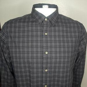 John Varvatos Charcoal Gray Check Shirt